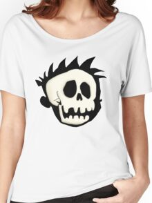 Calvin's Skull Women's Relaxed Fit T-Shirt