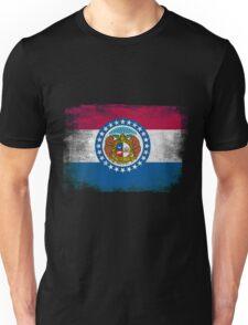Missouri State Flag Distressed Vintage  Unisex T-Shirt