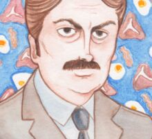 Ron Swanson from Parks and Recreation Sticker