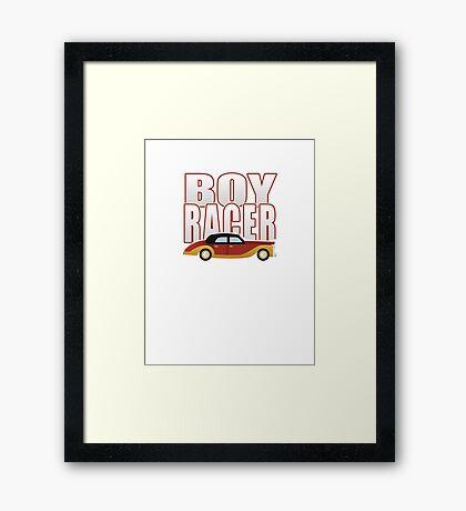 Ironic Boy Racer Framed Print
