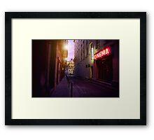 cinema Framed Print