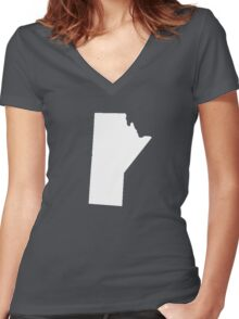 Manitoba Women's Fitted V-Neck T-Shirt