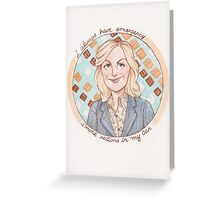 Leslie Knope from Parks and Recreation Greeting Card