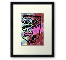 The case of identity Framed Print