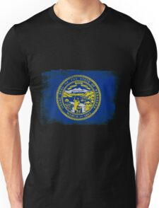 Nebraska State Flag Distressed Vintage Unisex T-Shirt