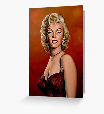 Marilyn Monroe 6 Painting Greeting Card