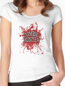 Zombie Hunter Red splatter Women's Fitted Scoop T-Shirt