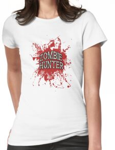 Zombie Hunter Red splatter Womens Fitted T-Shirt
