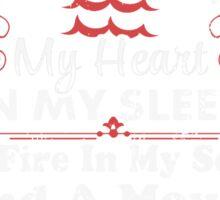 Im An Aquarius, I Was Born With My Heart T-Shirt Sticker