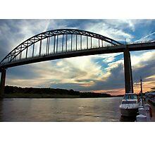 Sunset at Chesapeake City, Maryland Photographic Print