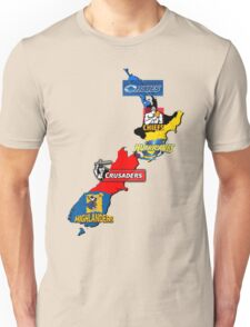 Super Rugby regions New Zealand Unisex T-Shirt