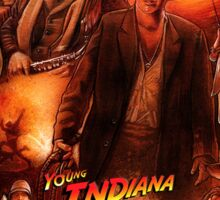 young Indiana Jones chronicles 20th anniversary poster Sticker