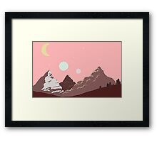 Pink Day in Space Framed Print