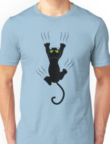 Cute Cat Grabbing with Paws Unisex T-Shirt