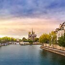 Sunset in Paris by Walter Parada