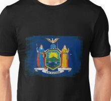 New York State Flag Distressed Vintage Unisex T-Shirt