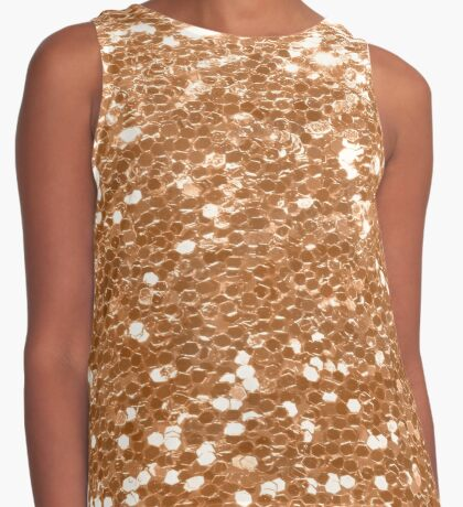 Rose gold glitter party Contrast Tank