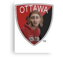 Ottawa Senators logo meme from NHL 15 - reddit Metal Print