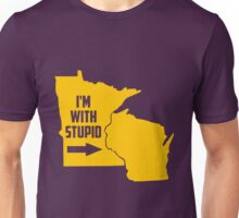 Minnesota I'm With Stupid Unisex T-Shirt
