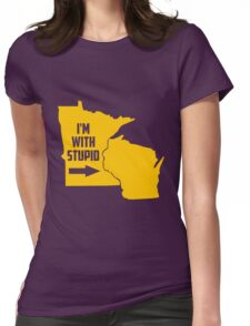 Minnesota I'm With Stupid Womens Fitted T-Shirt