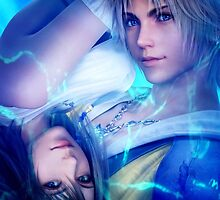 Yuna and Tidus FFX by Meghan T