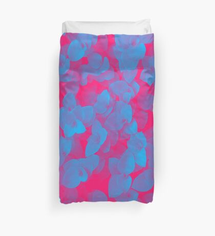 Nature Pattern - # 3 Leaves (Blue Red) Duvet Cover