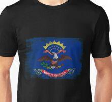 North Dakota State Flag Distressed Vintage Unisex T-Shirt