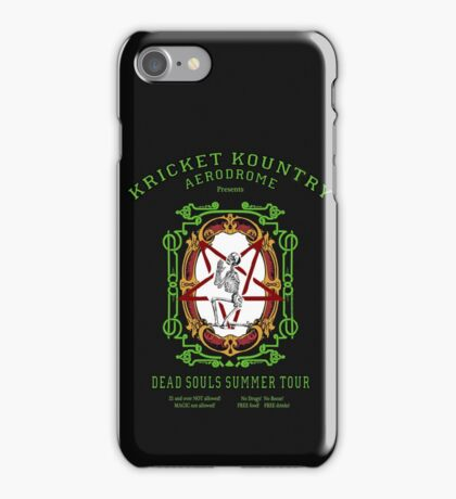 KRICKET KOUNTRY presents DEAD SOULS Summer Tour. iPhone Case/Skin