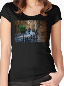 Streets of San Gimignano Women's Fitted Scoop T-Shirt