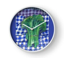 Broccoli and Gingham Clock