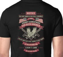 Merry Christmas God Bless America Unisex T-Shirt