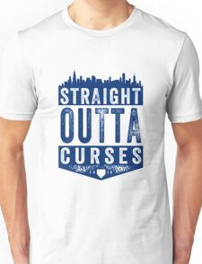 Straight Outta Curses (blue version) Unisex T-Shirt
