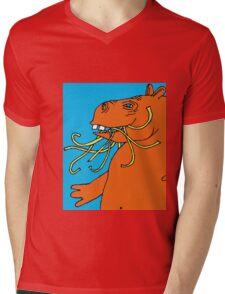 Hungry Hippo Need Udon Noodles Osaka Style Mens V-Neck T-Shirt