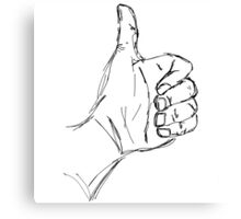 Thumbs-Up Sketch Canvas Print