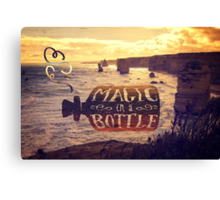 Magic in a Bottle Twelve Apostles Great Ocean Road Sunset Canvas Print