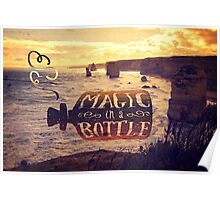 Magic in a Bottle Twelve Apostles Great Ocean Road Sunset Poster