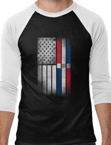 Dominican American Flag - Half Dominican Half American  Men's Baseball ¾ T-Shirt