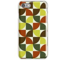 Brown and Green Mid Century Mod iPhone Case/Skin