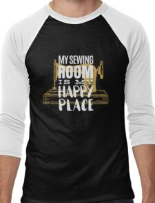 My Sewing Room is My Happy Place - Sewer Men's Baseball ¾ T-Shirt