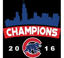 Chicago Cubs World Series Champions 2016 Photographic Print