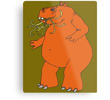 Hungry Hungry Hippo Escapes Picture Plane! Metal Print