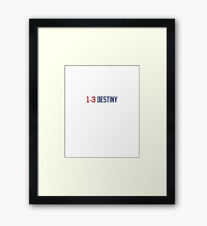 Chicago Cubs_World Series Champs_1-3 Destiny_Red Blue Framed Print