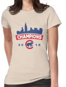 Chicago Cubs World Series Champions 2016 Womens Fitted T-Shirt