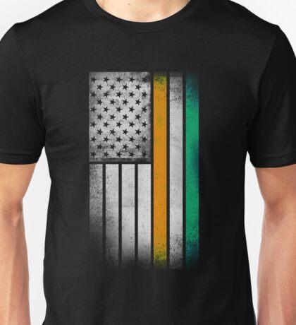 Irish American Flag - Half Irish Half American Unisex T-Shirt