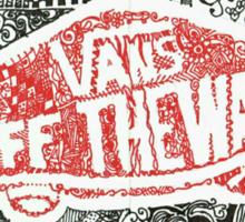Vans Off the Wall logo Sticker