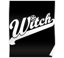 WITCH athletic lettering Poster