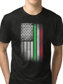Italian American Flag - Half Italian Half American Tri-blend T-Shirt