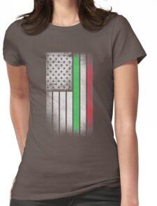 Italian American Flag - Half Italian Half American Womens Fitted T-Shirt