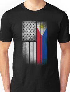 Filipino American Flag - Half Filipino Half American Unisex T-Shirt