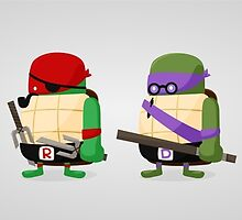 Turtles in Disguise by mykowu